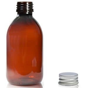 250ml ruskea muovipullo+korkki