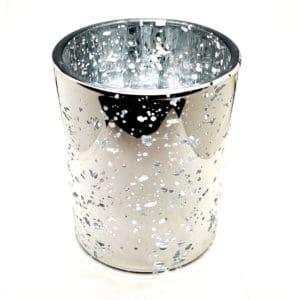 30cl lasinen valusastia hopea